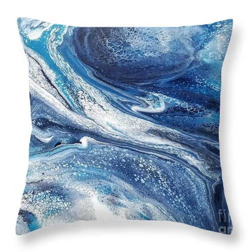 Acrylic Throw Pillow featuring the painting Flow 002 by Nicole Chambers
