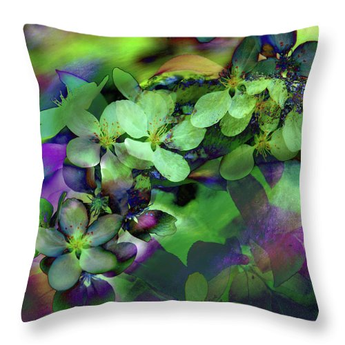 Abstract Throw Pillow featuring the digital art Flow Ers Squared by Sean Holmquist