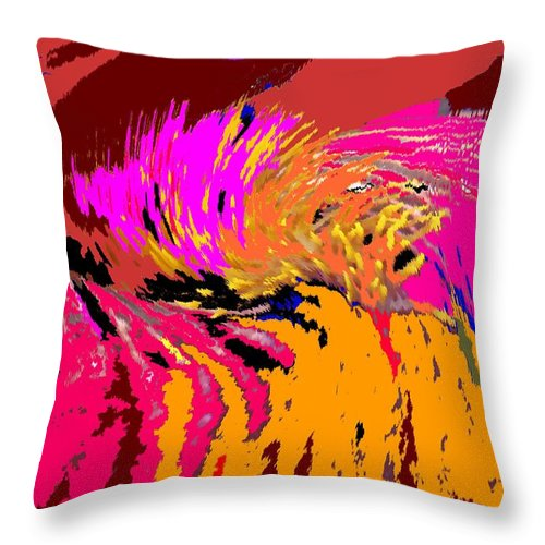 Abstract Throw Pillow featuring the digital art Flow by Ian MacDonald