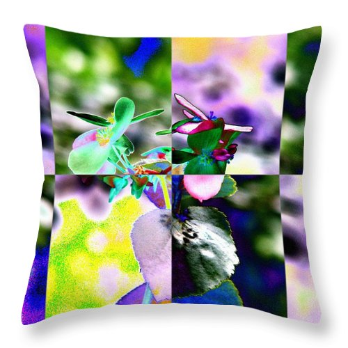 Flower Throw Pillow featuring the digital art Flower 2 by Tim Allen