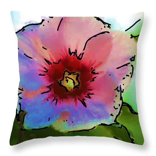 Landscape Throw Pillow featuring the photograph Flower 8-15-09 by David Lane