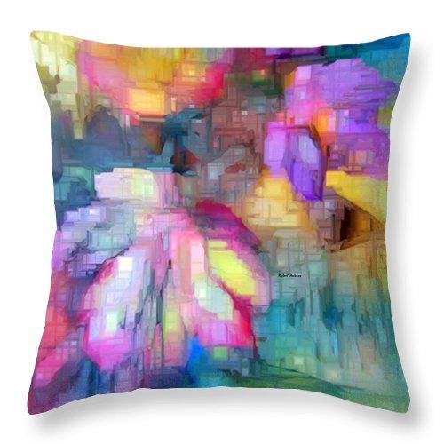 Art Throw Pillow featuring the digital art Flower 9350 by Rafael Salazar