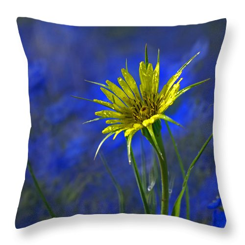 Flower Throw Pillow featuring the photograph Flower And Flax by Heather Coen