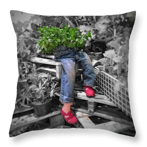 Flowers Throw Pillow featuring the photograph Flower Child by John Goldenne