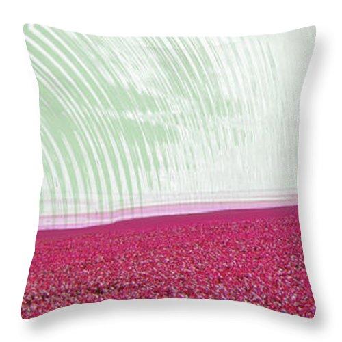 Abstract Throw Pillow featuring the digital art Flower Field by Efrat Fass