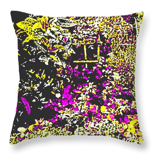 Square Throw Pillow featuring the digital art Flower Flood by Eikoni Images