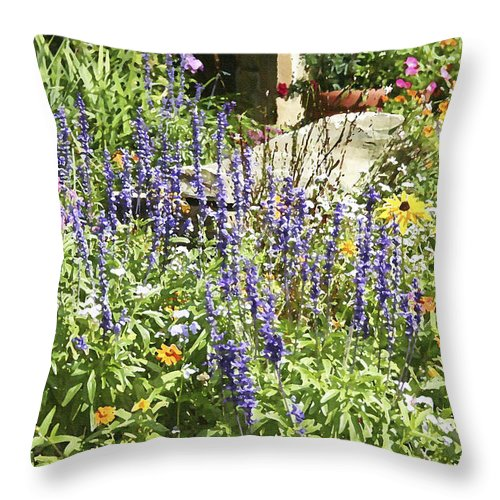 Flower Throw Pillow featuring the photograph Flower Garden by Margie Wildblood