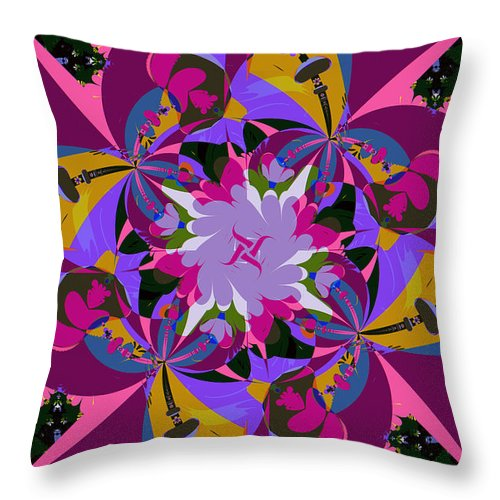 Jim Pavelle Throw Pillow featuring the digital art Flower Mont by Jim Pavelle