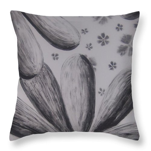 Flower Throw Pillow featuring the painting Flower Power by Emily Young
