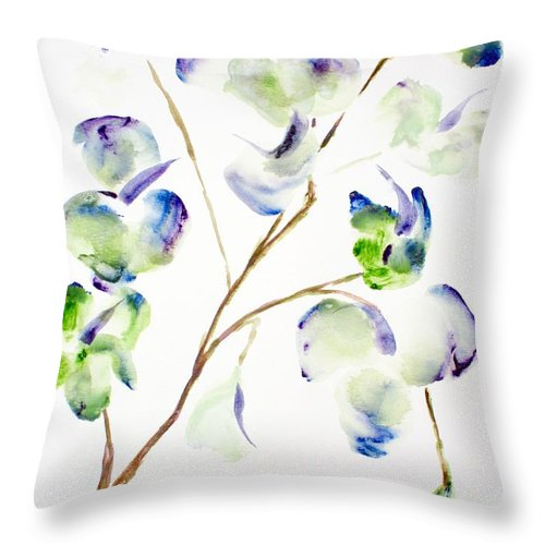 Flower Throw Pillow featuring the painting Flower by Shelley Jones