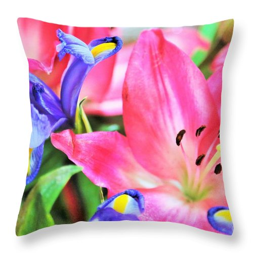 Landscape Hill Country.mothers Day Flowers.prints Throw Pillow featuring the photograph Flower Soft by Jeff Downs