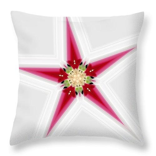 Throw Pillow featuring the digital art Flower Star 1 by Jeffrey Todd Moore