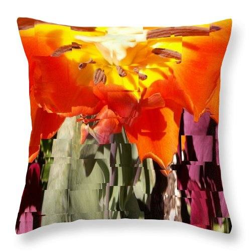 Flower Throw Pillow featuring the photograph Flower by Tim Allen