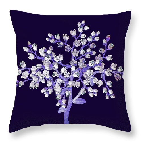 Flower Throw Pillow featuring the photograph Flower Tree by Digital Crafts