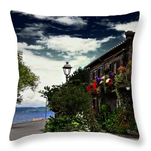 Flowers Throw Pillow featuring the photograph Flowered Home by Dawn Van Doorn