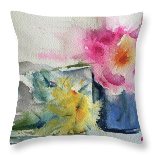 Watercolor Throw Pillow featuring the painting Be Still by Bonny Butler