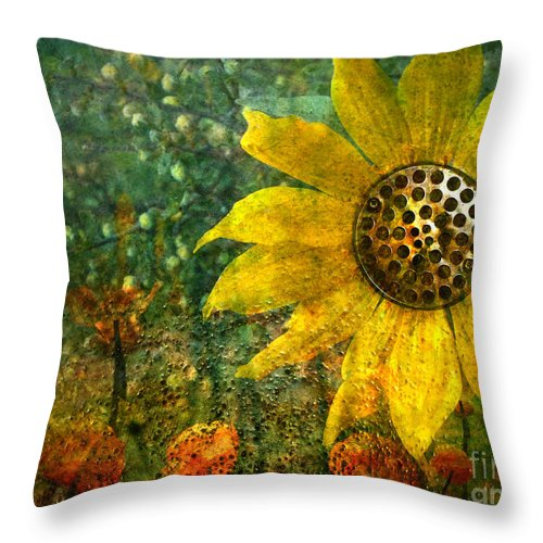 Flowers Throw Pillow featuring the photograph Flowers For Fun by Tara Turner