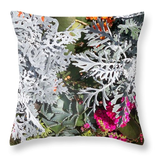 Florida Throw Pillow featuring the photograph Flowers Of Boca I by Chris Andruskiewicz
