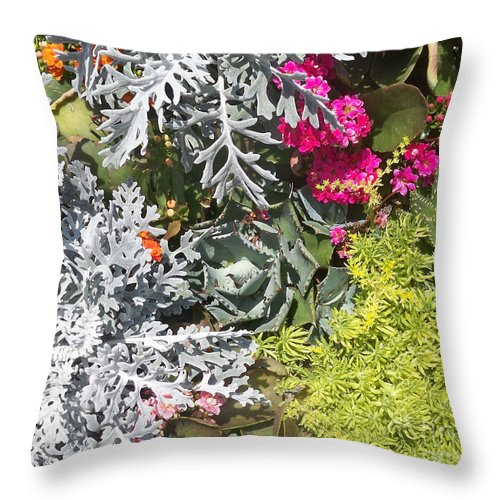 Florida Throw Pillow featuring the photograph Flowers Of Boca II by Chris Andruskiewicz