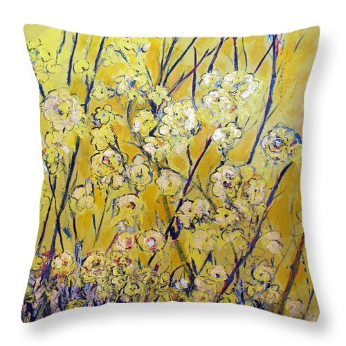 Flowers Throw Pillow featuring the painting Flowers Of The Sun by Gary Smith