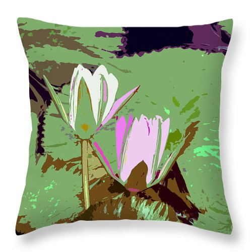 Flowers Throw Pillow featuring the photograph Flowers Work Number 3 by David Lee Thompson