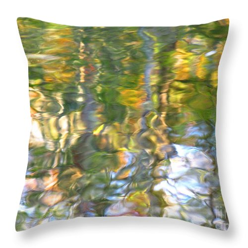 Water Art Throw Pillow featuring the photograph Fluctuations by Sybil Staples