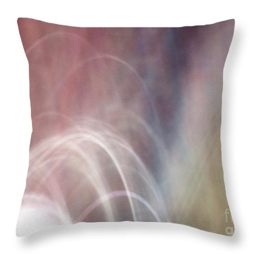 Abstract Throw Pillow featuring the photograph Fluency by Dorothy Hilde