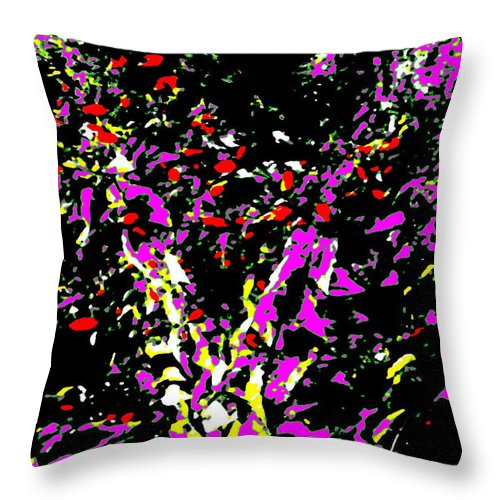 Square Throw Pillow featuring the digital art Flutter by Eikoni Images