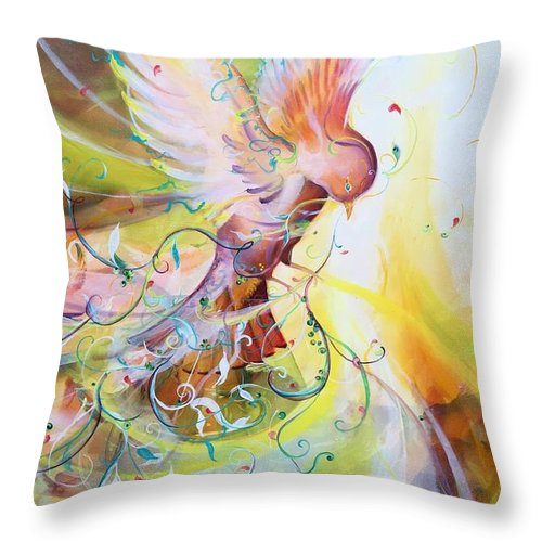 Dove Throw Pillow featuring the painting The Storm by Amy Green