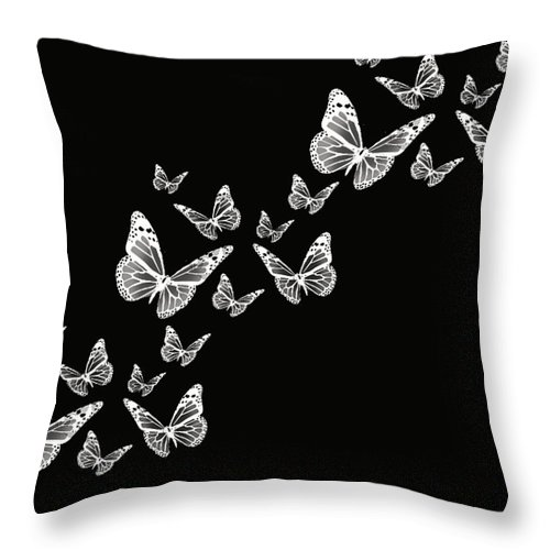 Butterfly Photographs Throw Pillow featuring the photograph Fly Away by Lourry Legarde