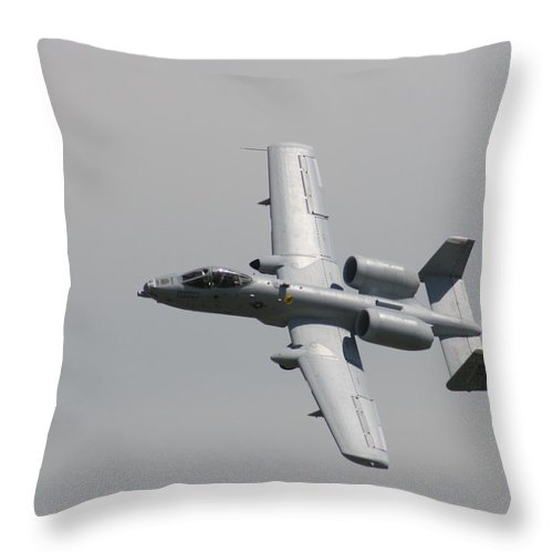 Airplane Throw Pillow featuring the photograph Fly By Wafb 09 A10 Thunderbolt 1 by David Dunham