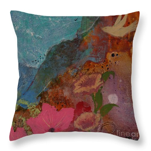 Fly Over The Mountains Throw Pillow for Sale by Robin Maria Pedrero