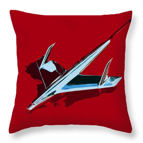 Chevy Throw Pillow featuring the painting Flying Chevy by David Lee Thompson