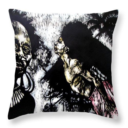 Flying Throw Pillow featuring the mixed media Flying Lessons by Chester Elmore