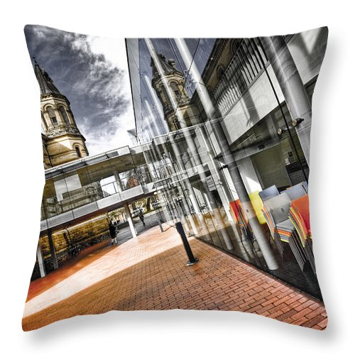 Flyover Throw Pillow featuring the photograph Flyover by Wayne Sherriff