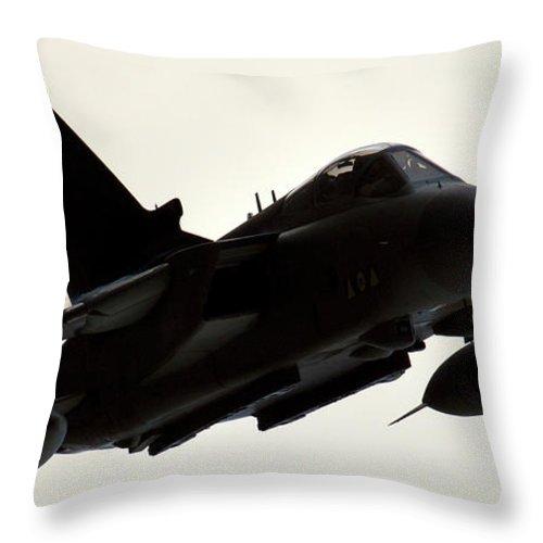 Tornado Throw Pillow featuring the photograph Flypass by Angel Ciesniarska
