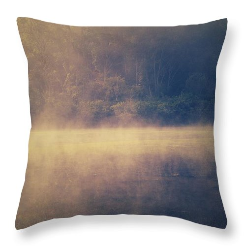 Fog Throw Pillow featuring the photograph Fog In The Foothills by Shelley Smith