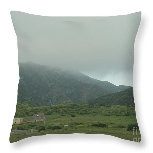 Fog In The Hills Throw Pillow featuring the photograph Fog In The Hills by Alice Heart