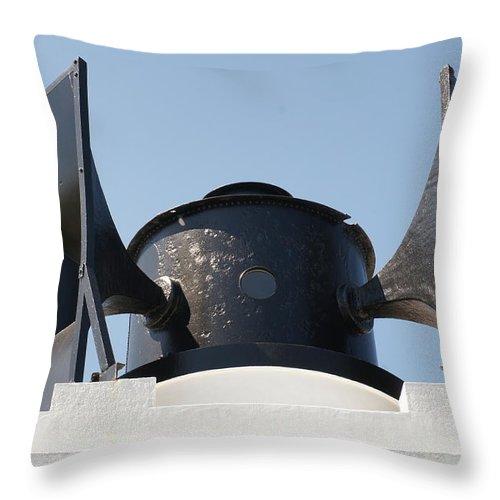 Foghorn Throw Pillow featuring the photograph Foghorn. by Elena Perelman