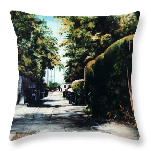 Cityscapes Throw Pillow featuring the painting Foliage by Duke Windsor