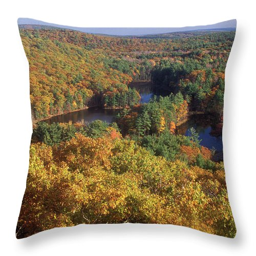 Autumn Throw Pillow featuring the photograph Foliage View From Crow Hill Leominster by John Burk