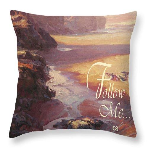 Christian Throw Pillow featuring the digital art Follow Me by Steve Henderson