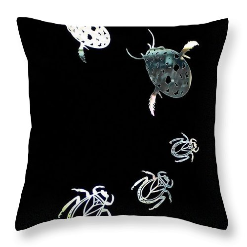 Bugs Throw Pillow featuring the photograph Follow The Leader by Cherie Duran