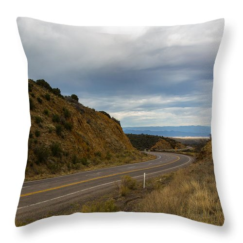 Arizona Throw Pillow featuring the photograph Follow The Winding Road by Billy Bateman