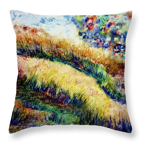 Landscape Throw Pillow featuring the painting Follow Your Dreams by Robin Monroe