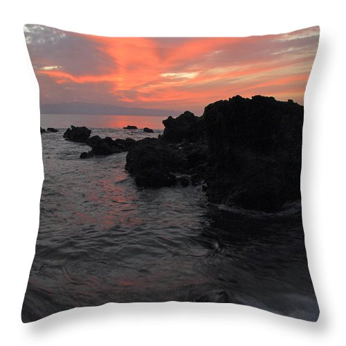 Seascape Throw Pillow featuring the photograph Fonsalia Red by Phil Crean