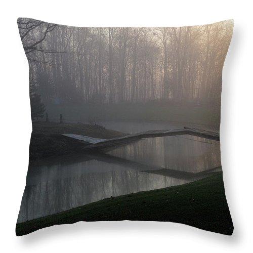 Bridge Throw Pillow featuring the photograph Footbridge by David Arment
