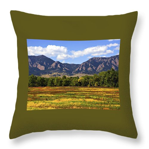 Fall Throw Pillow featuring the photograph Foothills of Colorado by Marilyn Hunt