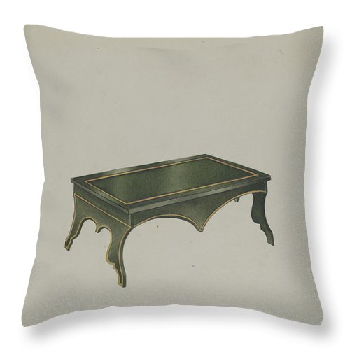 Throw Pillow featuring the drawing Footstool by Frank Nelson
