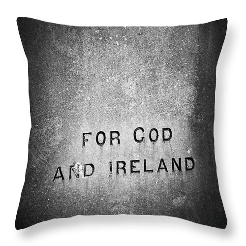 Irish Throw Pillow featuring the photograph For God and Ireland Macroom Ireland by Teresa Mucha